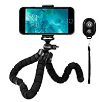 Rhodesy Octopus Style Tripod Stand Holder with Bluetooth Remote for Camera, Any Smartphone with Clip