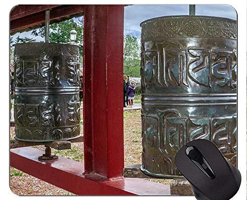 Rutschfeste Gummi-Gaming-Mausunterlage, Zylinder-Buddha-Statue-ästhetische Richtung personifizierte Rechteck-Gaming-Mausunterlagen -