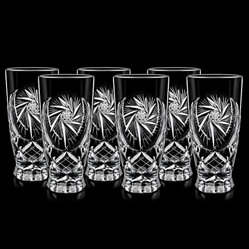 Cristal original de Irena 6 pzas. Juego de vasos 300ml Whisky Glass 'P