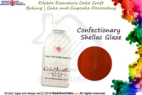 essbar Cake Craft Essential | Konfekt Glasur Shellac Glanz | 50ml | Kostenlose Lieferung | Kuchen...