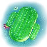 Lavievert Kaktus Luftmatratzen riesig aufblasbar Pool Party Float Floß Schwebebett Schwimmtier Wasserspielzeug Badeinsel mit einem Getränkehalter für Kinder & Erwachsene