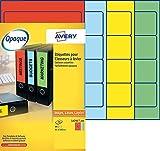 Best Professionnels du logiciel de code à barres - Avery 80 Etiquettes Autocollantes pour Dos de Classeur Review