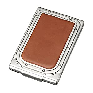 Etui cigarettes cuir véritable Sarome excc 1–02 SKS10 Argenté ancien/cordovan/orange