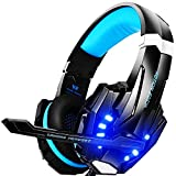 Gaming Headset ,Linstar G9000 Gaming Kopfhörer mit Mikrofon 3.5mm On-Ear Surround Sound Ohrhörer und Einstellbare Bass-Stereo Lautstärkeregelung ,für Tablet ,PC, Smartphone,Notebook, Desktop, Computer Spieler