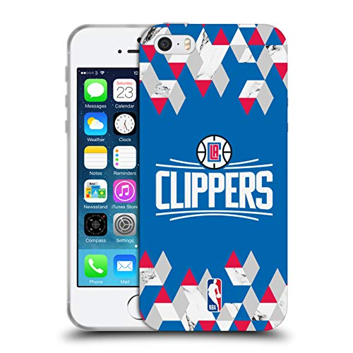 Head Case Designs Offizielle NBA Marmor Geometrisch 2018/19 Los Angeles Clippers Soft Gel Huelle kompatibel mit iPhone 5 iPhone 5s iPhone SE (Clippers Angeles 5s Los Iphone)