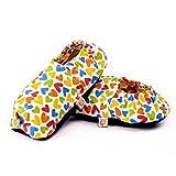 Pantofole Scaldapiedi Microonde - Ciabatte Riscaldate con Semi (Taglia Unica) - Riscaldanti per Piedi Freddi - Federa Esterna Lavabile in Cotone 100% e Fiori di Lavanda