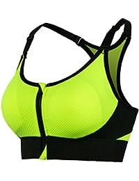 Comfort Bra Mujeres Niñas Sujetador de Yoga Ajustable Funcionamiento del sueño, Saludable y Delgado, Adecuado para Mujeres Sujetador Sleep In Yoga (Color : Verde, tamaño : Metro)