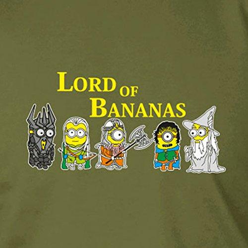 Lord of Bananas - Herren Langarm T-Shirt Dunkelblau
