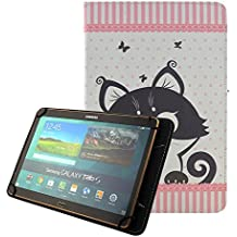 "[Universal Funda 10 pulgadas] Funda Flip Case Cover para Yuntab K107 10.1""/ Artizlee ATL-21 Plus 10.1 pulgadas/ Alldaymall Tablet 10.1""/Chuwi HiBook Pro 10,1 pulgadas/Teclast X10 Plus 10,1/Woxter SX 220 10.1""/Excelvan K107 10""/iRULU eXpro X1s 10.1""/ Dragon Touch X10 10.1""/ Simbans Presto Tablet 10.1"" Carcasa Protector Fundas para Tablet Samsung Tab A6 10.1/Asus/Acer/Lenovo 10""-Gato"
