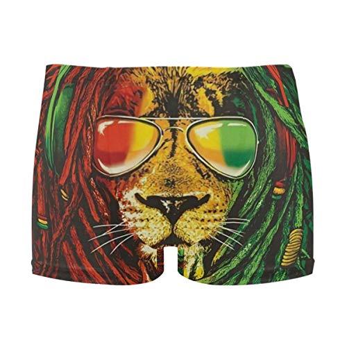 best gift Mens Swim Trunks Glasses Lion Boxer Briefs Board Short Beach Shorts Men Swimming Briefs Swimwear XL