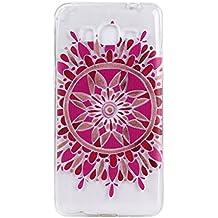 Meet de - Carcasa de protección para iPod touch 5/6, silicona flexible transparente, diseño original, antigolpes, fina, diseño de flor, color azul