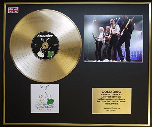 STATUS QUO/CD Disco d'oro/Disco & Foto Display/Edizione LTD/Certificato di autenticità/PICTURES 40 YEARS OF HITS