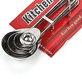 Ardisle Juego de cucharas de acero inoxidable Medir Cuchara de cocina Cucharadita de hornear