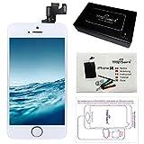 trop saint Ecran LCD iPhone Se Blanc - Kit Réparation Ecran Complet avec Notice, Tapis de Repérage Magnetique et Outils