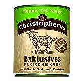 Christopherus Alleinfutter für Hunde, Nassfutter, Gluten- und getreidefrei, Ziege/ Kartoffel/ Karotte, Exklusives Fleischmenü 800 g
