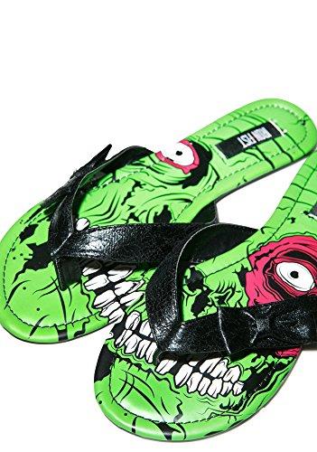 Stomper Zombie (Iron Fist , Damen Sandalen Grün grün)