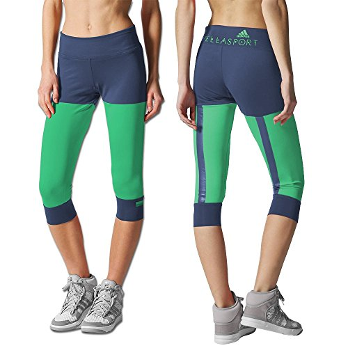 62e3de6a0bfb2 Adidas 4054714146352 Womens Capri Tights S21214 Urban Sky And Real Green 30  S21214- Price in India