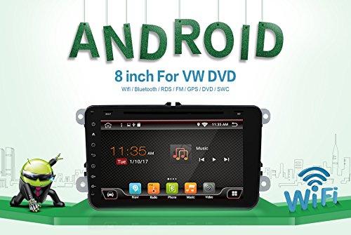 2G 16g avec caméra et micro Android 6.0Quad Core Wifi Modèle de voiture lecteur DVD GPS 2DIN 20,3cm pour Volkswagen VW Skoda Polo Passat B6CC Tiguan Golf 5Fabia support Miroir Link/OBD2/caisson de basses