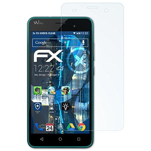 atFolix Schutzfolie kompatibel mit Wiko K-Kool Panzerfolie, ultraklare & stoßdämpfende FX Folie (3X)