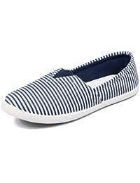 Asian Shoes LR 99 White Navy Blue Women's Casual Shoes