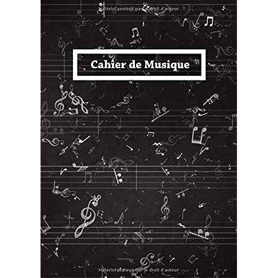 Cahier de Musique: Papier Manuscrit Avec 12 Portées - 108 Pages - Format A4 - Noir Blanc