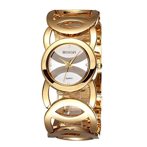 Jialun CuarzoskuWa0102jw 2487 Impermeable Moda Rhinestone Dial Relojes Reloj Redondo Weiqin Mujeres wPXuTkZOi
