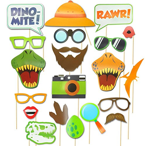Foto Requisiten Für Kinder - LUOEM Dinosaurier Photo Booth Props Kinder