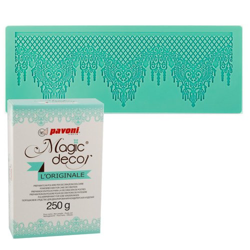 Magic Decor Matte Spitzendecke + Magic Decor Pulver 250g