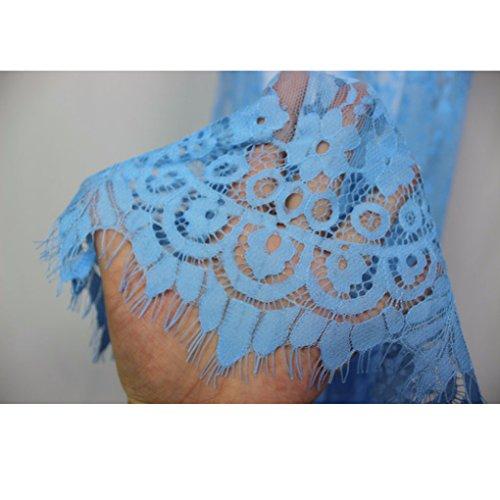 Langes Kleid für Damen von Nilover, Umstandsmode aus durchsichtiger Spitze für sexy Fotos Hellblau