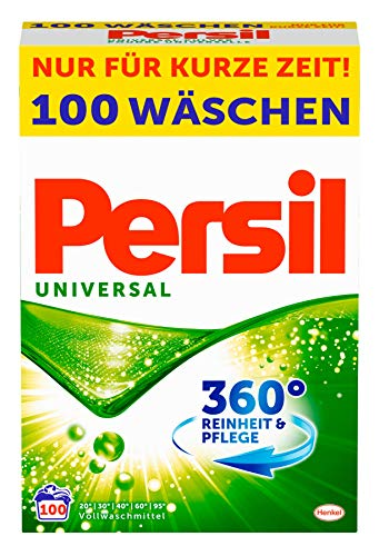Persil Universal Pulver, Vollwaschmittel, 360° Reinheit & Pflege, 1er Pack (1 x 100 Waschladungen)