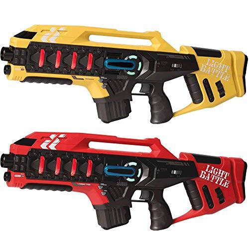 Light Battle 2 Anti-Cheat Laser Tag Gewehre Kaufen - Lasertag Spiel für Kinder - Laser Game Toy Gun für zu Hause | Gelb + Rot | LBAPG10228