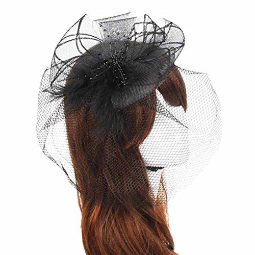 SO-buts Hochzeit Camouflage Schleier, gefiederten Gaze Stirnband, europäischen und Amerikanischen Stil Mesh Kopfschmuck, Braut Haarschmuck ()