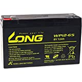 Powery KungLong Batería de Reemplazo para Coche de Niño Vehículo Eléctrico 6V 12Ah (Reemplaza También 10Ah)