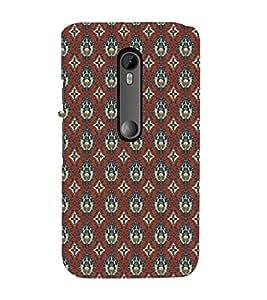 ifasho Designer Phone Back Case Cover Motorola Moto X Force :: Motorola Moto X Force Dual SIM ( Royal Green leaves Pattern Design )