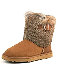 Shenduo - Boots fourrées de mouton, Bottes de neige femme doublure chaude de laine D13030