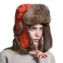 Sombrero De Aviador Unisex para Hombre para Mujer Piel De Fácil De Igualar  Conejo Sombrero De 7b395ab4127