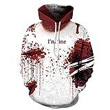 Unisex-Halloween-Brief verwundenes Blut gedruckt Sweatshirt lässige Hoodies