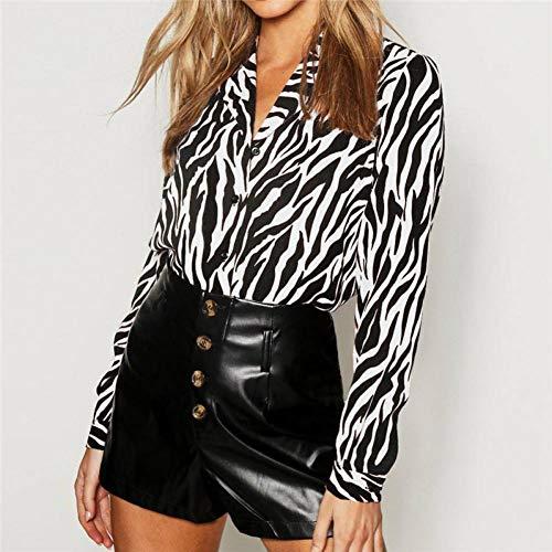 LYWBLACK Casual Frühling Langarm Chiffon Bluse Frauen 2019 Elegant Zebra Gestreifter Print Damen Tops Sexy V-Ausschnitt Plus Größe Tunika Shirts -