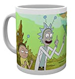 Tazza bianca di Rick and Morty con stampa Peace.