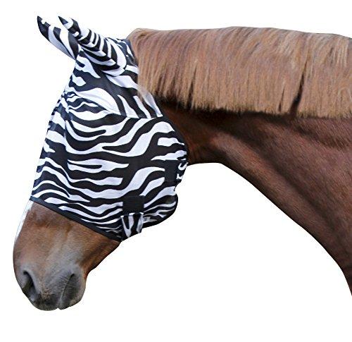 Kerbl 326120 Fliegenschutzmaske Zebra inklusiv Ohrenschutz, Vollblut