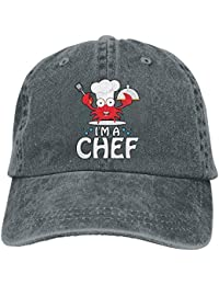 Ejdkdo Gorras de béisbol de Tela de Mezclilla Ajustables Soy un Chef - Gorra  de Cangrejo 029b330d427