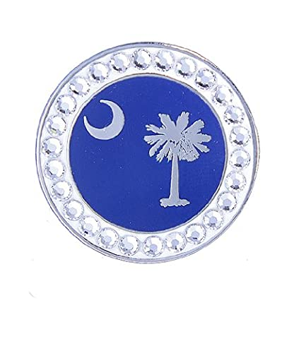 Bella Crystal South Carolina Flag Hat Clip