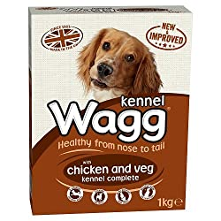 Wagg Complete Kennel for Working Dogs Chicken and Vegetables, 1kg