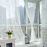 Amazingdeal365 idyllische Vorhang Flugfensterdeko Voile Gardinen Schal 1