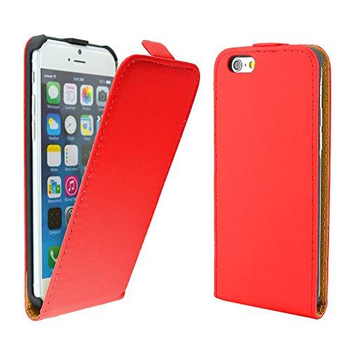"""ebestStar - pour Apple iPhone 6S 6 Plus écran 5,5"""" - Housse Coque Etui à rabat PU cuir ULTRA FIN (ultra slim case), Couleur Rouge [Dimensions PRECISES de votre appareil : 158.1 x 77.8 x 7.1 mm, écran  Rouge"""
