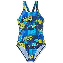 Arena G Jr Swim Pro One Piece L Bañador Deportivo Niña Dancing, Niñas, Navy-Multi, 12-13
