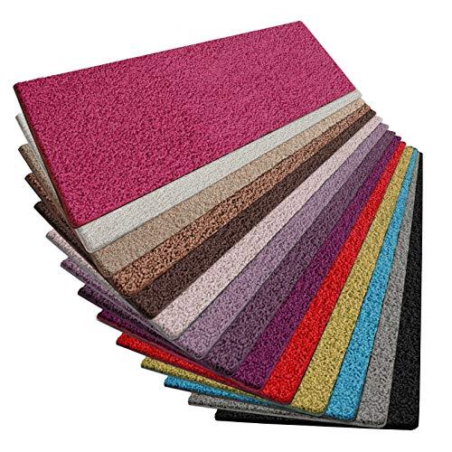 (Shaggy Läufer Barcelona | weicher Hochflor Teppichläufer für Flur, Wohnzimmer, Schlafzimmer etc. | mit GUT-Siegel und Blauer Engel | in vielen Größen | moderne Farben | 66x150 cm | Pink)