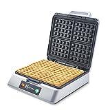 Heska - Belgian Waffle Maker 1200W - 4 Slice Non-stick Coating with Automatic