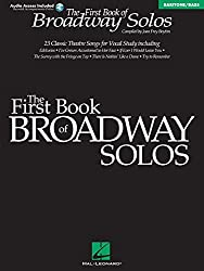 First Book of Broadway Solos: Baritone/Bass Edition with online audio by Joan Frey Boytim (2001-10-01)
