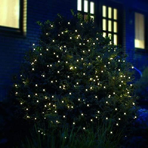 LED Lichternetz mit 200 warmweißen LEDs, 3 x 3 Meter für den Innen- und Außenbereich